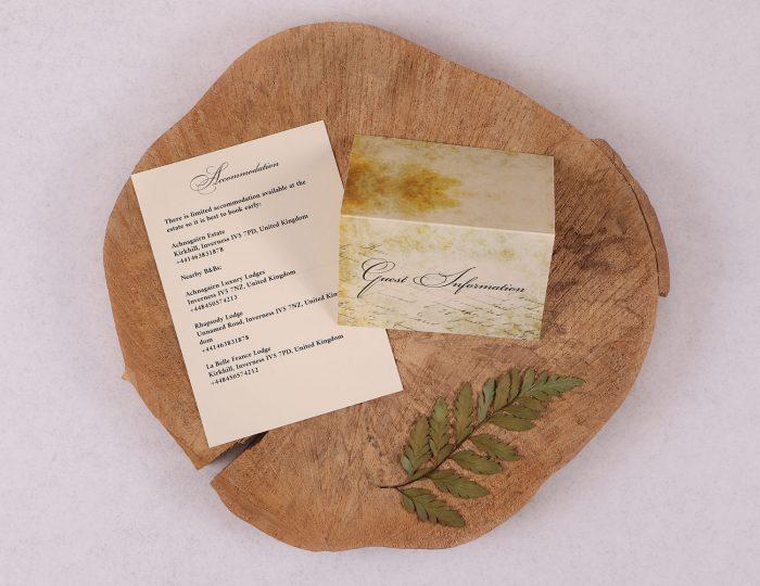 Old World Vintage Guest Information Card