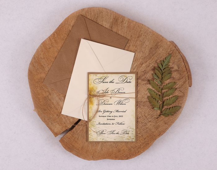 Old World Vintage Save the Date Card