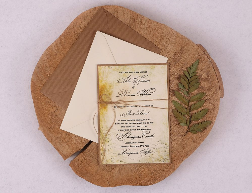 Old World Vintage Wedding Invitation