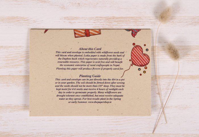Plantable Greeting Card - Birthday - Celebration - Back