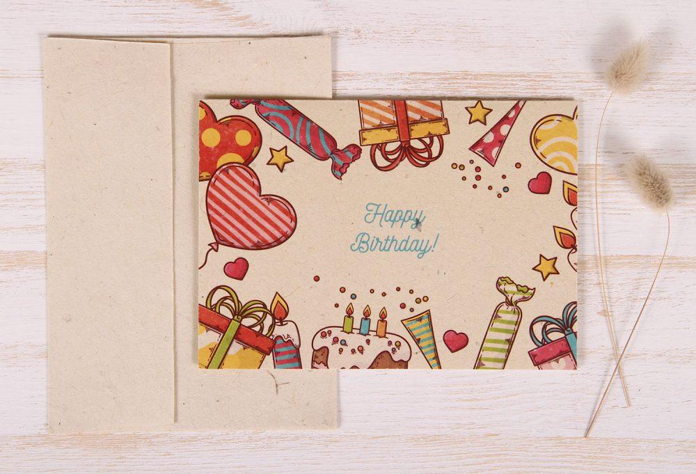 Plantable Greeting Card - Birthday - Celebration - Front