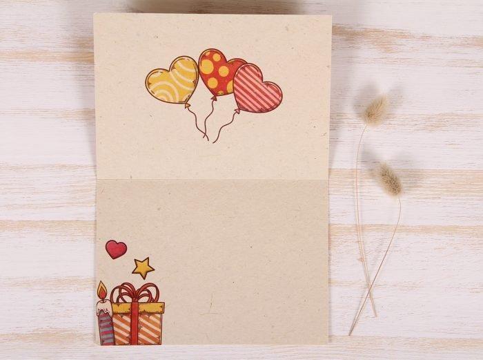 Plantable Greeting Card - Birthday - Celebration - Inside