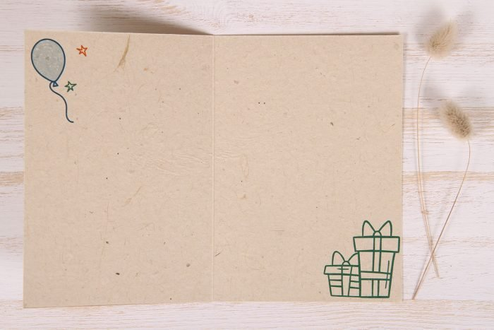 Plantable Greeting Card - Birthday - Doodles - inside