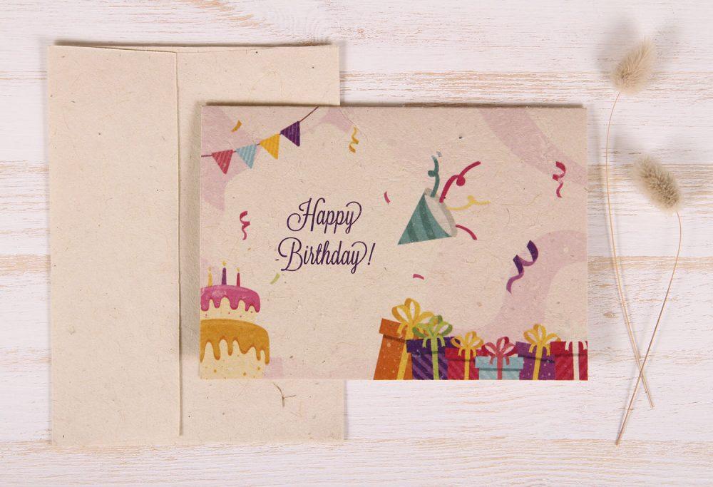 Plantable Greeting Card - Birthday - Festive - Front