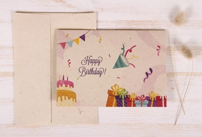 Plantable Greeting Card - Birthday - Festive - Front