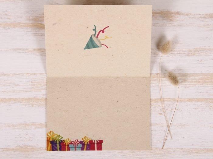 Plantable Greeting Card - Birthday - Festive - Inside