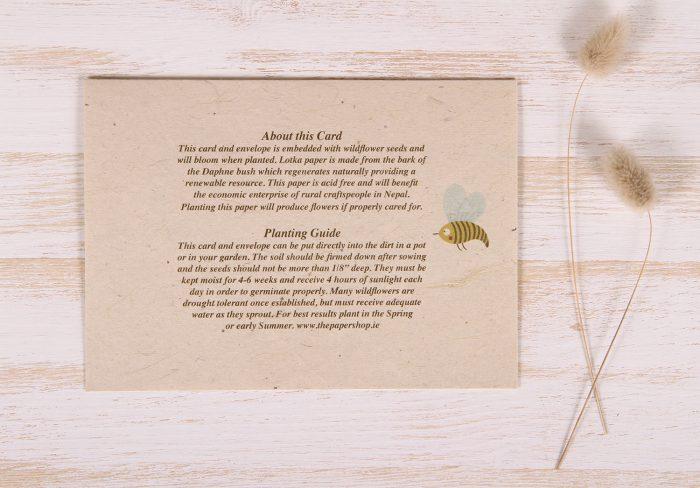 Plantable Greeting Card - Birthday - Garden Border - Back