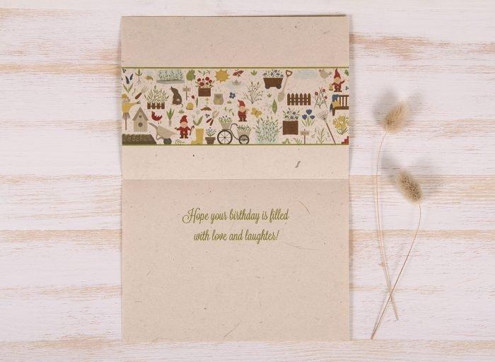Plantable Greeting Card - Birthday - Garden Border - Inside
