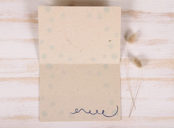 Plantable Greeting Card - Birthday - Gold - Inside
