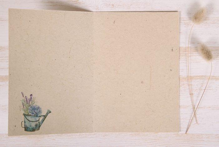 Plantable Greeting Card - Birthday - Lavender Wreath - Inside