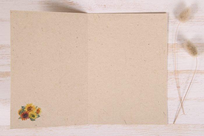 Plantable Greeting Card - Birthday - Sunflowers - Inside