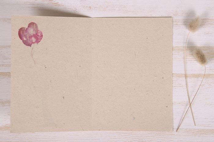 Seeded Plantable 30th Birthday Card - Balloon Tree - Inside