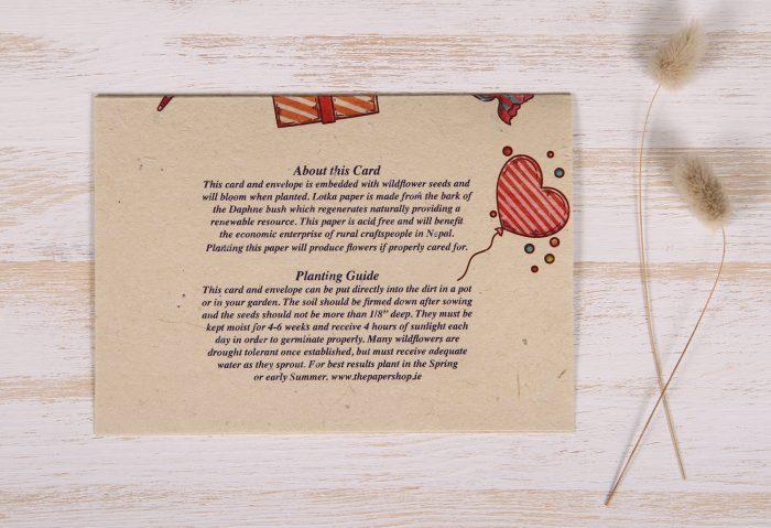 Seeded Plantable 30th Birthday Card - Celebration - Back