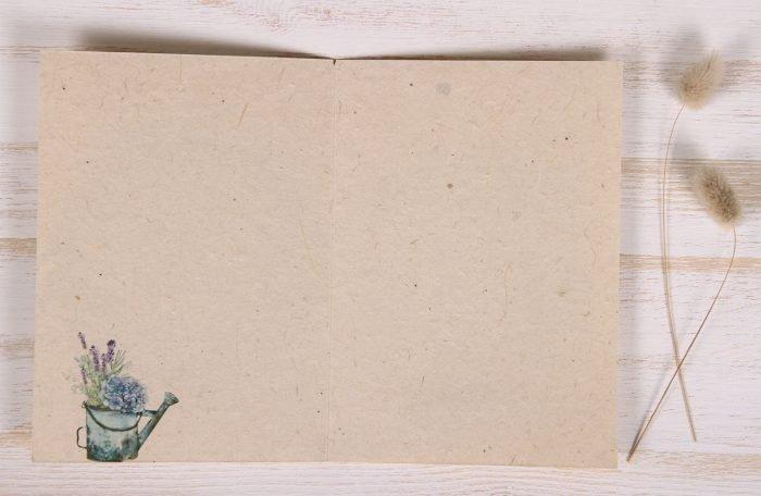 Seeded Plantable 40th Birthday Card - Lavender Wreath - Inside