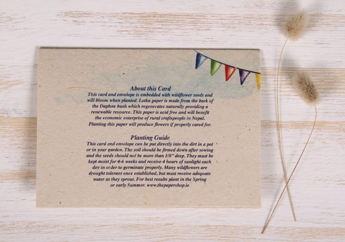 Seeded Plantable 60th Birthday Card - Gold - Back