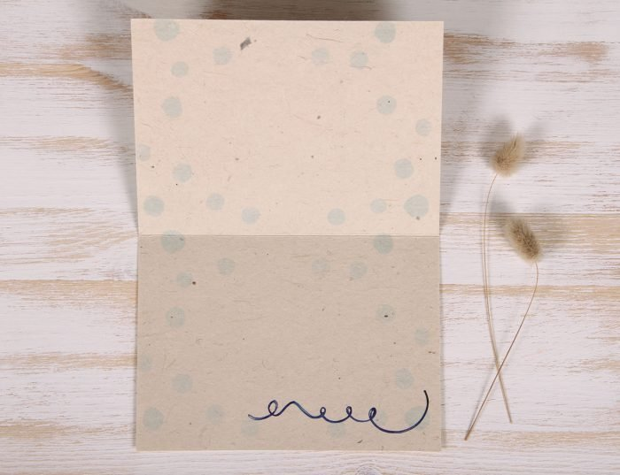 Seeded Plantable 60th Birthday Card - Gold - Inside