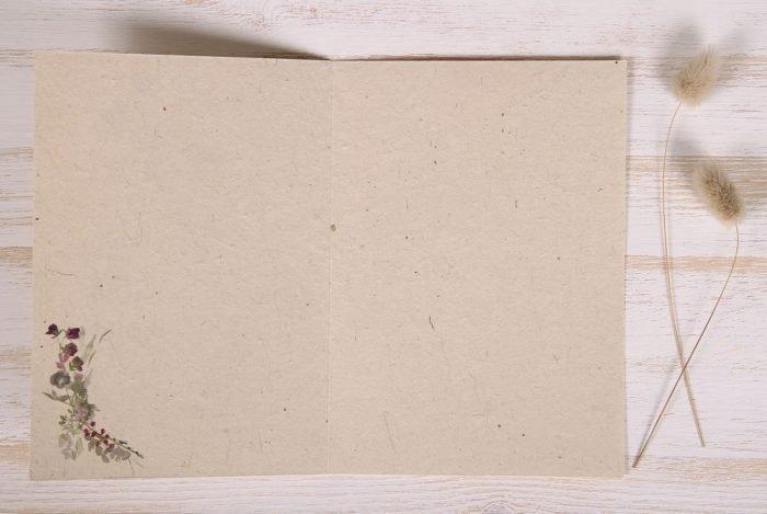 Seeded Plantable 70th Birthday Card - Wildflowers - Inside