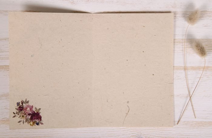 Seeded Plantable 80th Birthday Card - Mauve Roses - Inside