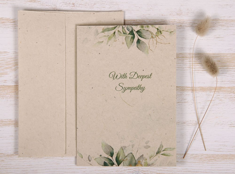 Seeded Plantable Condolence Card for Brother - Eucalyptus - Front
