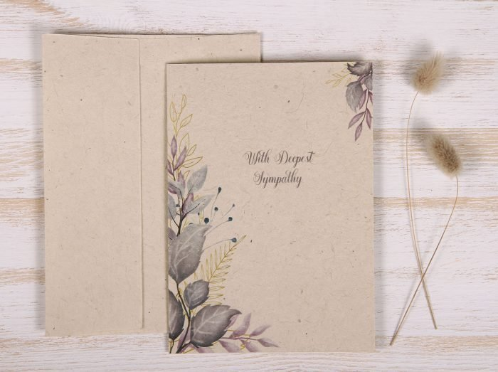 Seeded Plantable Condolence Card for Sister - Lavender Leaves - Front
